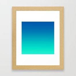 Teal Mint Ombre Framed Art Print