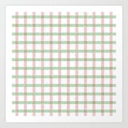 Oh Christmas Stripes Art Print