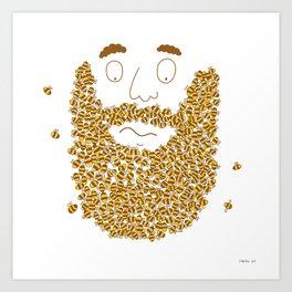 Mr Bee Beard Art Print