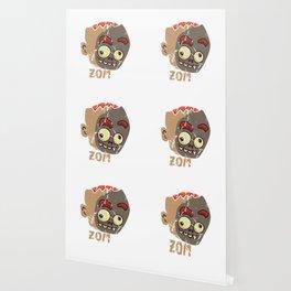 Cute Zombae Zombie Graphic Halloween  Wallpaper