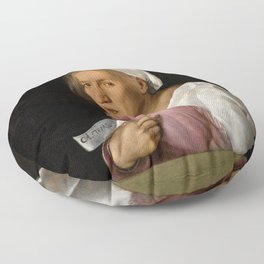 "Giorgione ""The Old Lady"" Floor Pillow"