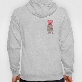 pig and bag with gold coins Hoody