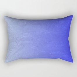 Blue Ice Glow Rectangular Pillow