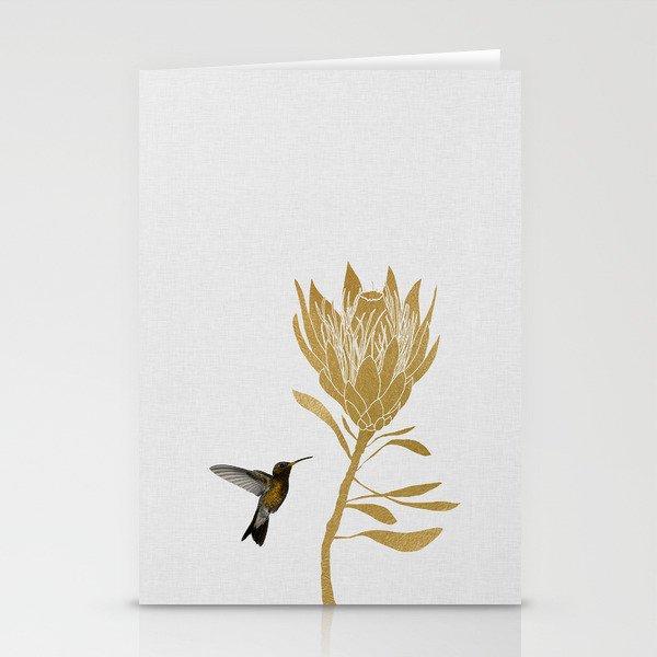 Hummingbird & Flower I Stationery Cards