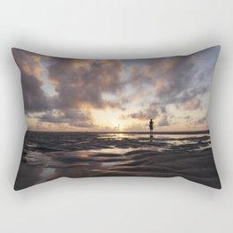 Watching the Sun Rise Rectangular Pillow