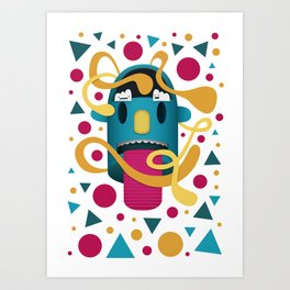 In Your Face Art Print