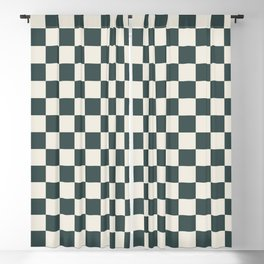 Checkerboard Pattern Inspired By Night Watch PPG1145-7 & Horseradish PPG14-19 Blackout Curtain
