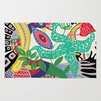 rio de janeiro Area & Throw Rugs featuring rio de janeiro 1 by Maca Salazar