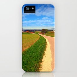 A road, a village and summer season | landscape photography iPhone Case