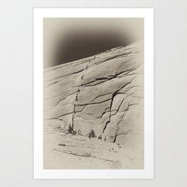 Yosemite Half Dome Hikers Art Print
