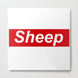 supreme sheep Metal Print