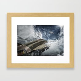 Phantom vs Mig 17 Framed Art Print