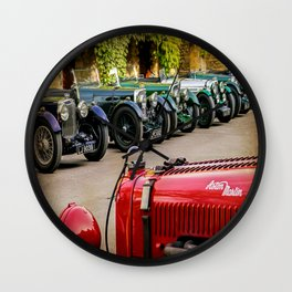 Vintage Aston Martins.  Wall Clock