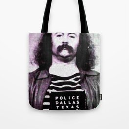 David Crosby Mug Shot Vertical Sepia Music Gift Idea Tote Bag