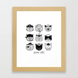 Ocean Cats Framed Art Print