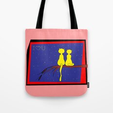 love and cats Tote Bag