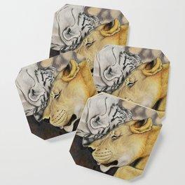 """""""CamBu"""" Cameron Lion & Zabu Tiger Coaster"""