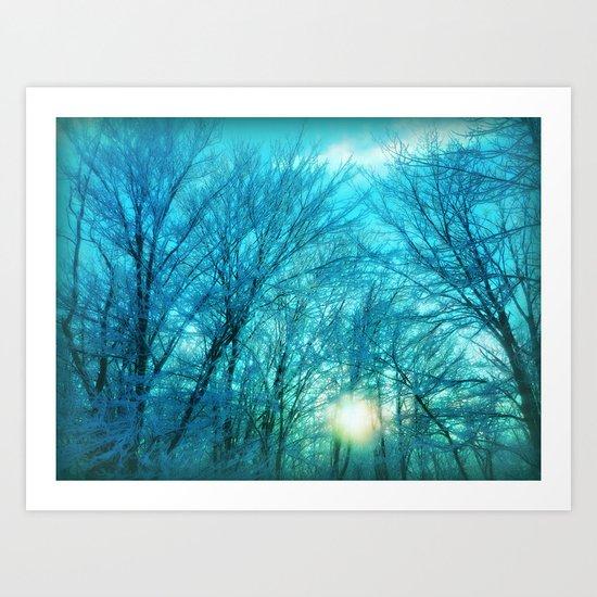 Landscape ~ Winter sunset Art Print