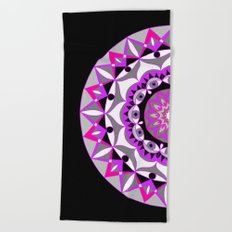 My Love Mandhala   Secret Geometry   Energy Symbols Beach Towel