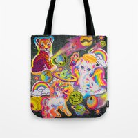 sticker Tote Bags featuring Sticker Bomb by jajoão