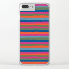 Pinking shears colorful stripes Clear iPhone Case