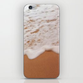 Tropical Coral Sand Beach With Toe-Tickling Foamy Surf iPhone Skin