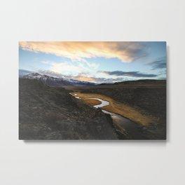 Mountain Ranges Horizon Fog 5k Wallpaper Metal Print