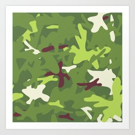 Camouflage military background. Art Print