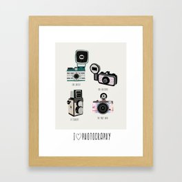 I love photography Framed Art Print