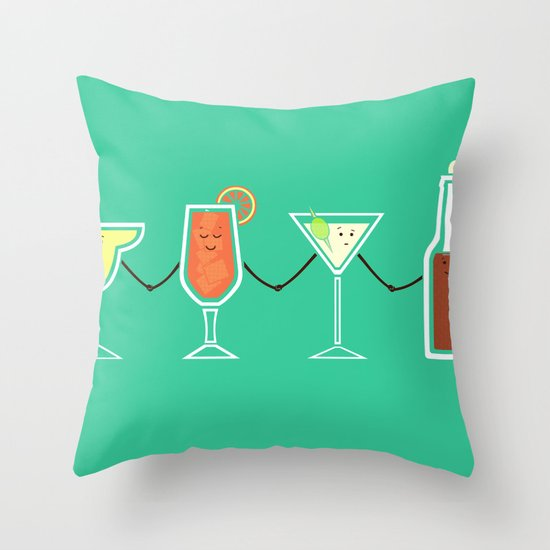 Cocktails! Throw Pillow