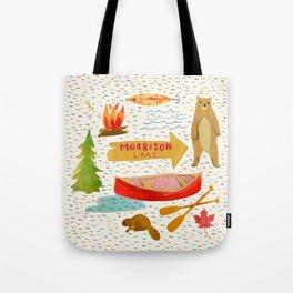 Morrison Lake Canadian Cottage Pattern Tote Bag