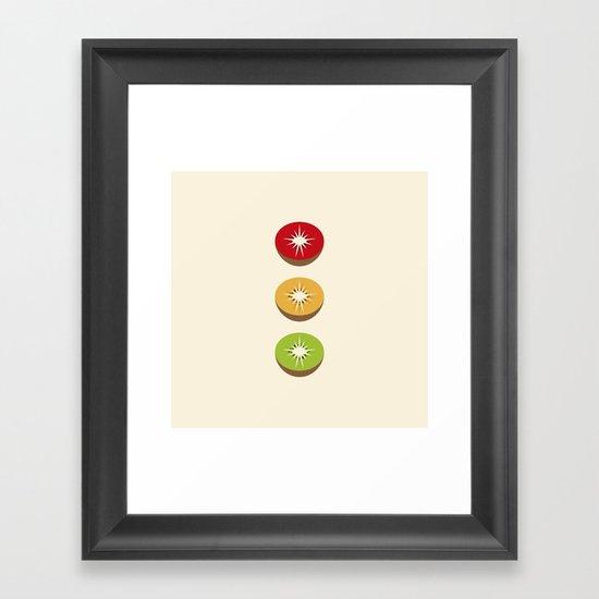 Go Kiwi Framed Art Print