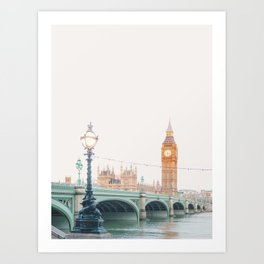 Thames Sunrise - London England Travel Photography Art Print