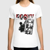 saga T-shirts featuring Rocky Saga by The Black Lodge