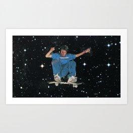 skater boi takes the stars Art Print