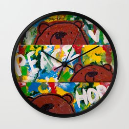 Wood Dominoes - Colour - #2 Wall Clock
