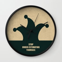 Lab No. 4 - Stop Under Estimating Yourself Corporate Start-up Quotes Wall Clock