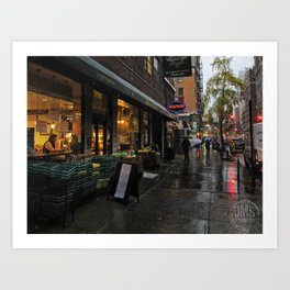 University Place in Rain Art Print