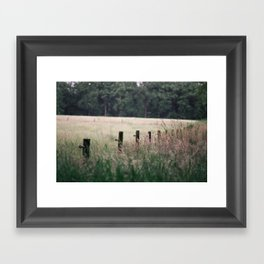 Fenced Framed Art Print