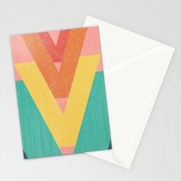 Five Caret Retro Design Stationery Cards