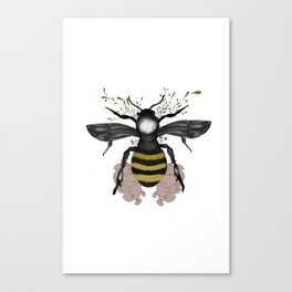 The bee is here Canvas Print