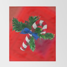 Christmas Candy Cane Throw Blanket