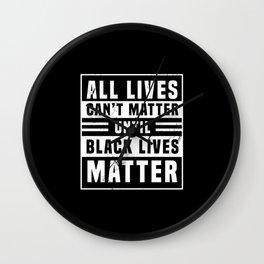 Black Lives Matter Power Anti Rac BLM Wall Clock