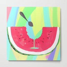 Watermelon Cocktail Metal Print