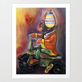 Bike Monkey Art Print