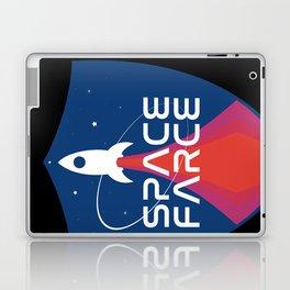 Space Force Space Farce Logo graphic parody Blue Black Military Laptop & iPad Skin