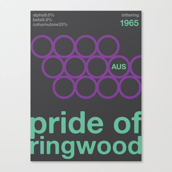 pride of ringwood//single hop Canvas Print