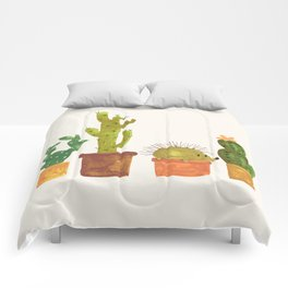 Hedgehog and Cactus (incognito) Comforters