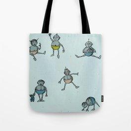 Robot Babies Tote Bag