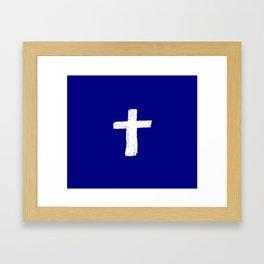 Christian Cross Chalk version Framed Art Print